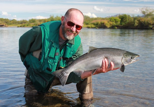 Classic pose with a Coho Salmon