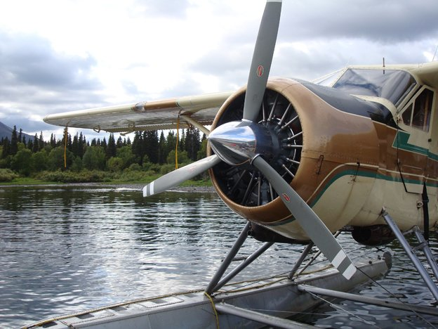 One of the float planes that takes you out fly fishing for salmon