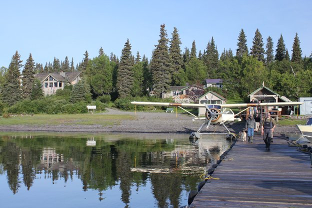A great shot of Bristol Bay Lodge in the morning sun