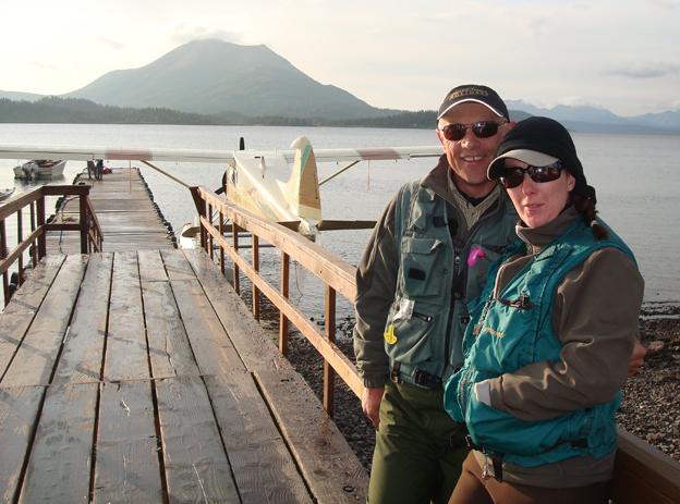 Peter Collingsworth MD & Tracey Sportquests Marketing Director at Bristol Bay Lodge Alaska