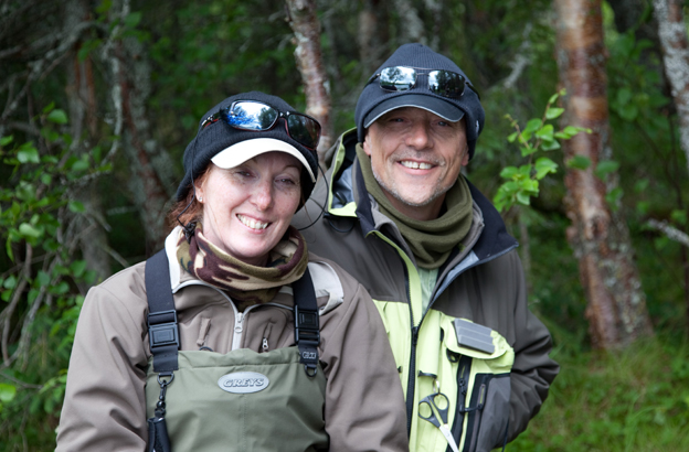 lady buckenham and peter collingsworth fly fishing for salmon
