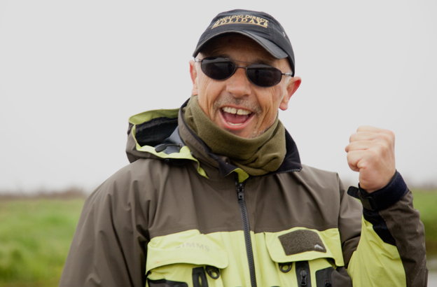 peter collingsworth looks very happy after catching and releasing a nice salmon