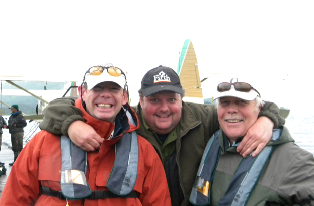 happy customers on a salmon fly fishing holiday with sportquest holidays
