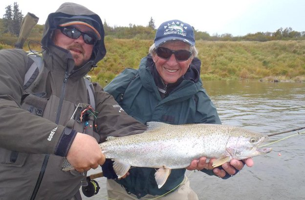 no see um lodge cracking rainbow trout fly fishing