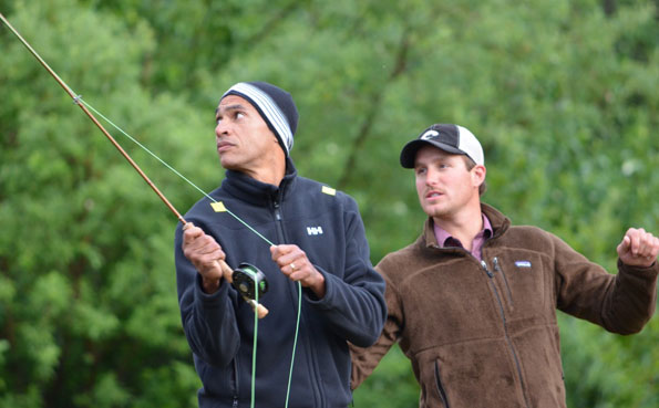 fly casting lessons at mission lodge alaska