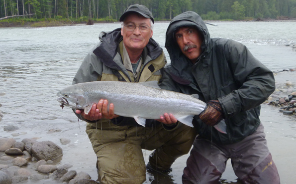 Steelhead fishing Skeena River with Sportquest Holidays number 1 fly fishing holidays