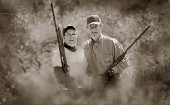 Happy couple out hunting Argentinian Dove Shooting Report 2013