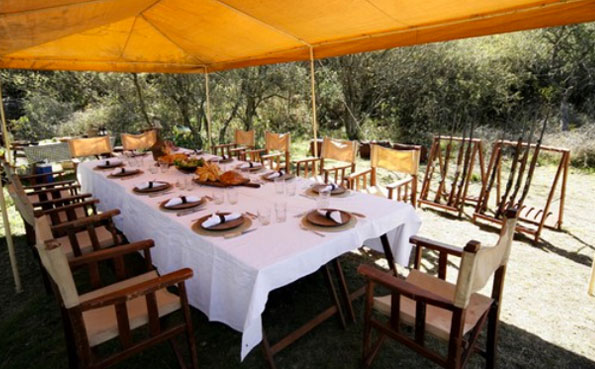 The outside eating area Argentinian Dove Shooting Report 2013