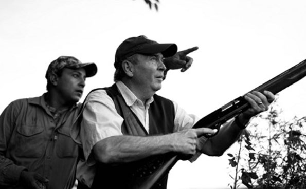 Argentinian Dove Shooting Report 2013 of a guy getting ready to shoot