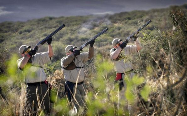 Three guys taking aim at Cordoba Argentina Dove Shooting Report