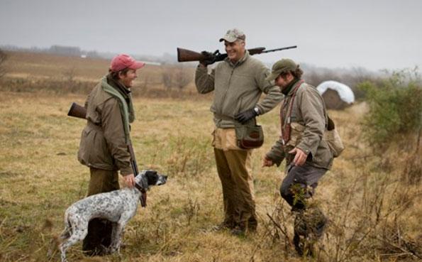 Taking a break with the dog San Juan Mixed Bag Shooting Report