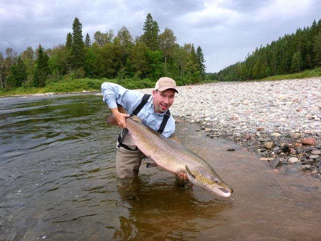 43.5lb Atlantic Salmon from Camp Bonaventure Canada Camp Bonaventure Fishing Report September