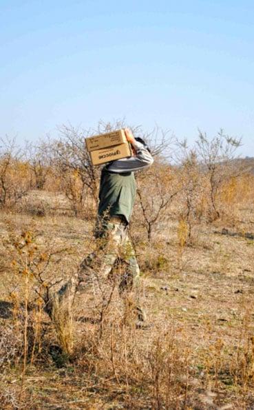Carring boxes of shot gun shells Argentina shooting report
