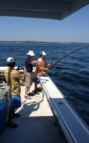 Person fighting a big tuna New Bluefin Tuna Destination Report