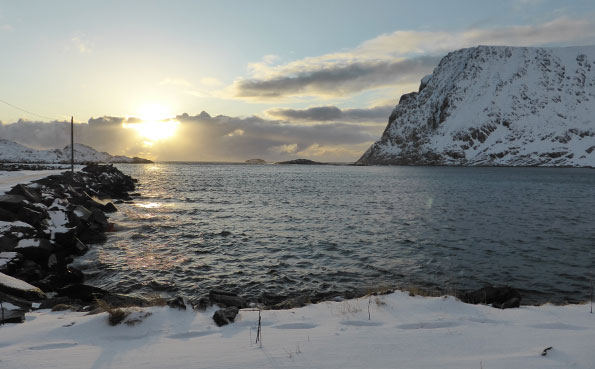 Norway Fishing Report of excellent sunsets over Soroya