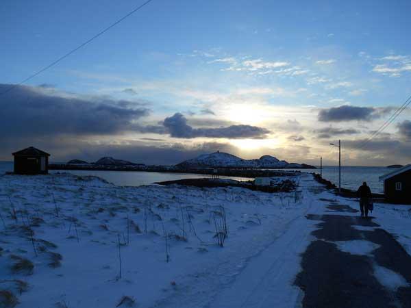 excellent sunset at soroya Norway Fishing Report soroya