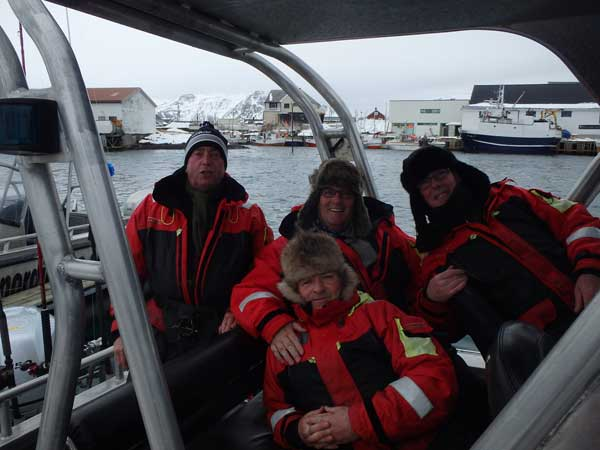 Norway Fishing Report of 4 guys ready to go fishing