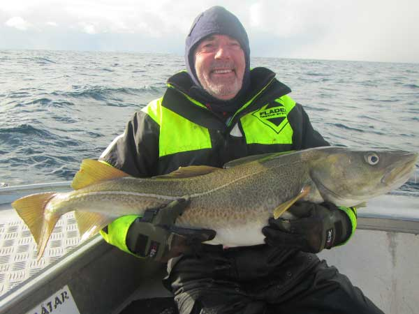 mike with a huge cod Norway Fishing Report