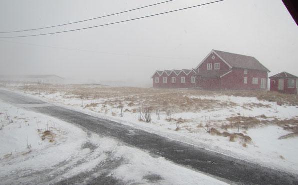 Snowy scenery in Soroya Norway Fishing Report