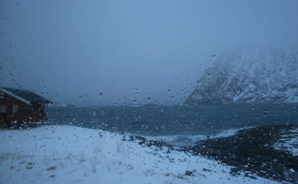 Norway Fishing Report of a very snowy day