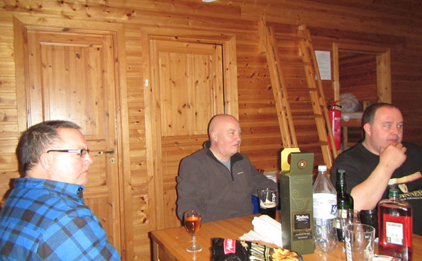 The cabins at Soroya Norway Fishing Report