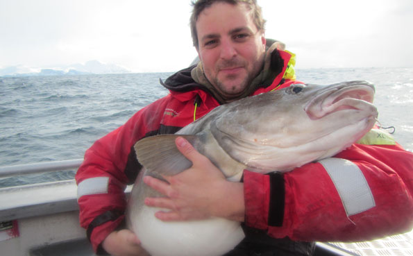 Ian has fallen in love with his Cod Fishing Report Norway