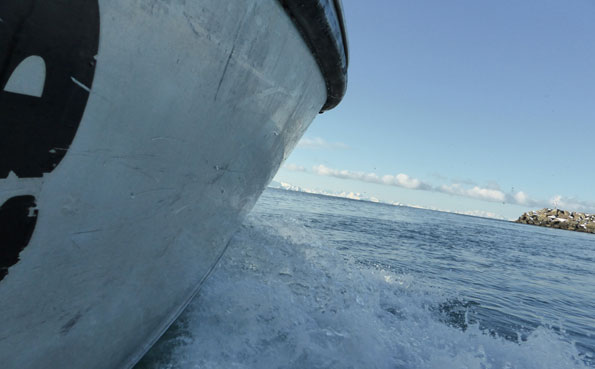 Close up of the ocean at Soroya Fishing Report Norway