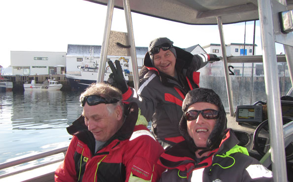 Three very good friends fishing together in Soroya Fishing Report Norway