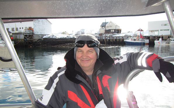 A happy fisherman just before going out Norway fishing report