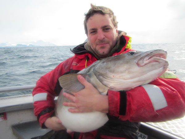 Fishing Report Norway of Ian holding his biggest Cod