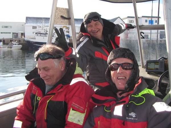 Three friends before going out Fishing Report Norway