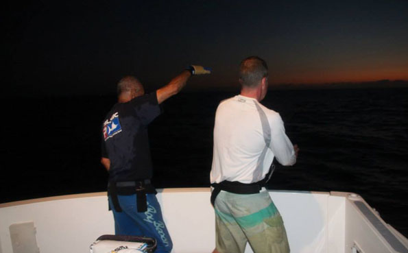 Its dark and still not landed the Marlin Big Game Fishing Report