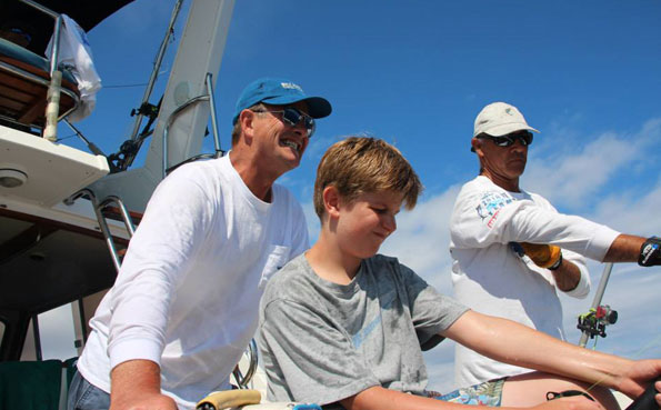 The family get involved with playing this fish Big Game Fishing Report