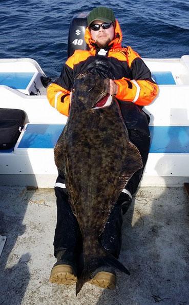 Large halibut fishing report norway