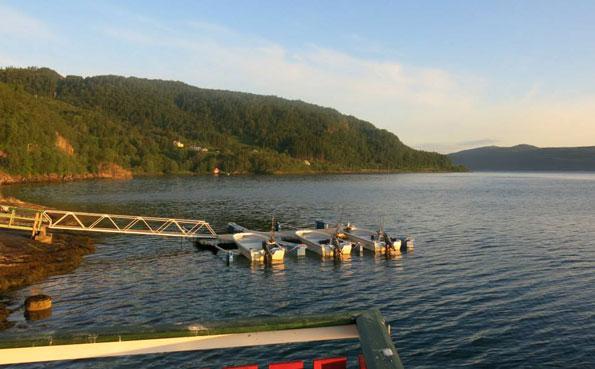 the boats at dock Norway Fishing Report Sandbakken