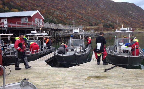 Fishing Report Norway of the boat dock