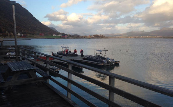 Men getting ready to go fishing report Norway