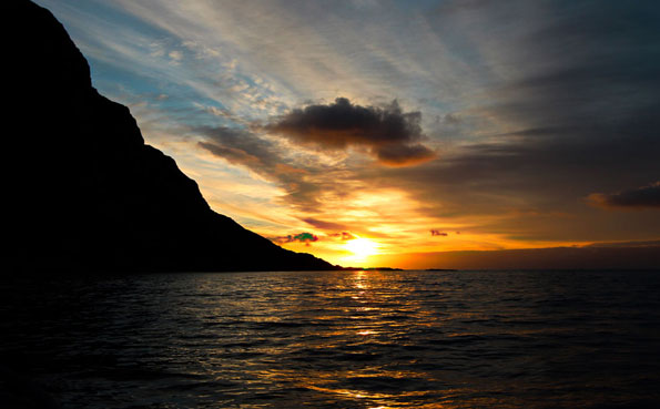 Norway fishing report on stunning sunsets