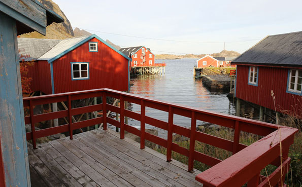 Norway fishing report of typical Norwegian cabins