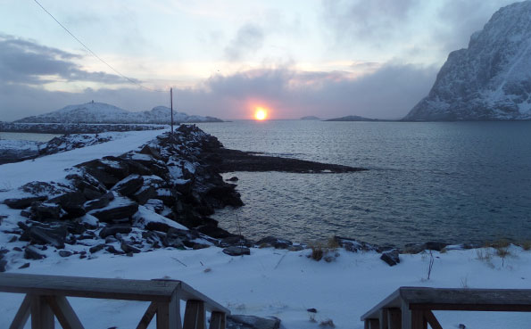 What a lovely sunset from Norway fishing report Soroya