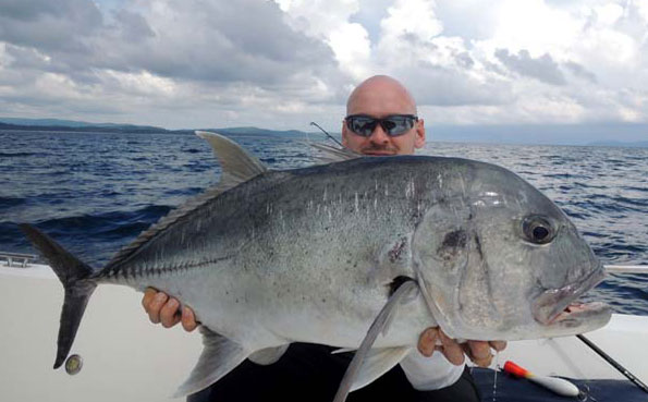 popper caught gt Fishing Report Andaman Islands