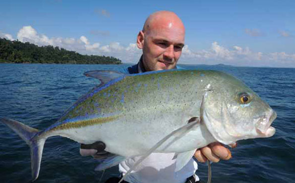 blue fin trevally Fishing Report Andaman