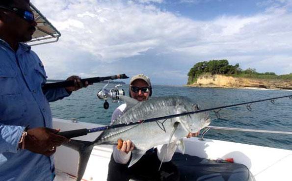his fish broke his rod Fishing Report Andaman
