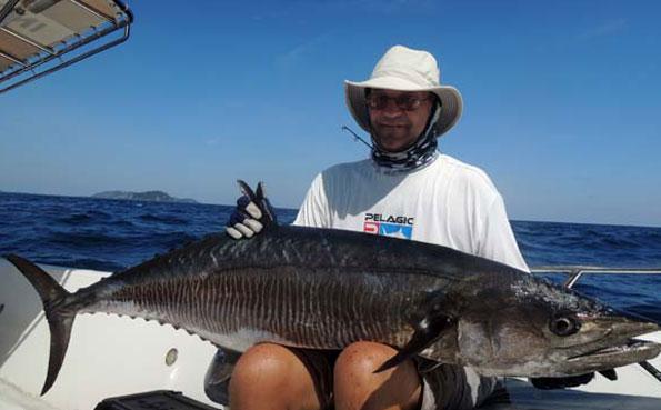 a huge spanish Mackerel Fishing Report Andaman