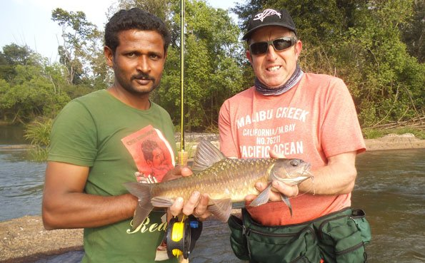 A small Mahseer from India Fishing Report
