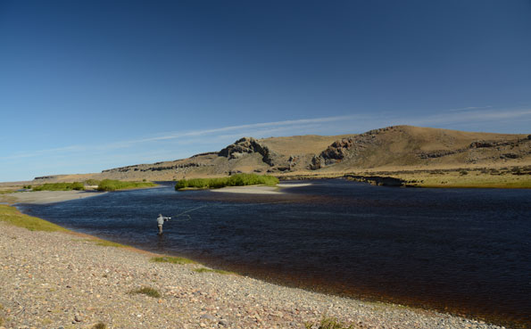 picture of customer sea trout fishing in argentina