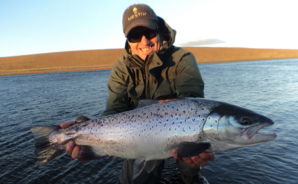 Johnny with a nice sea trout