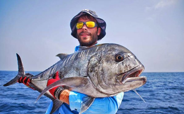GT caught for our Sri Lanka Fishing Report