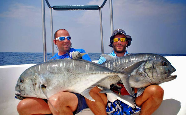 Sri Lanka Fishing Report of a double take of GT