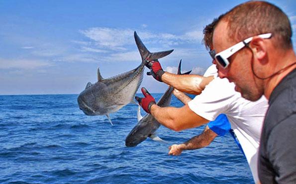 Double release of GT Sri Lanka Fishing Report